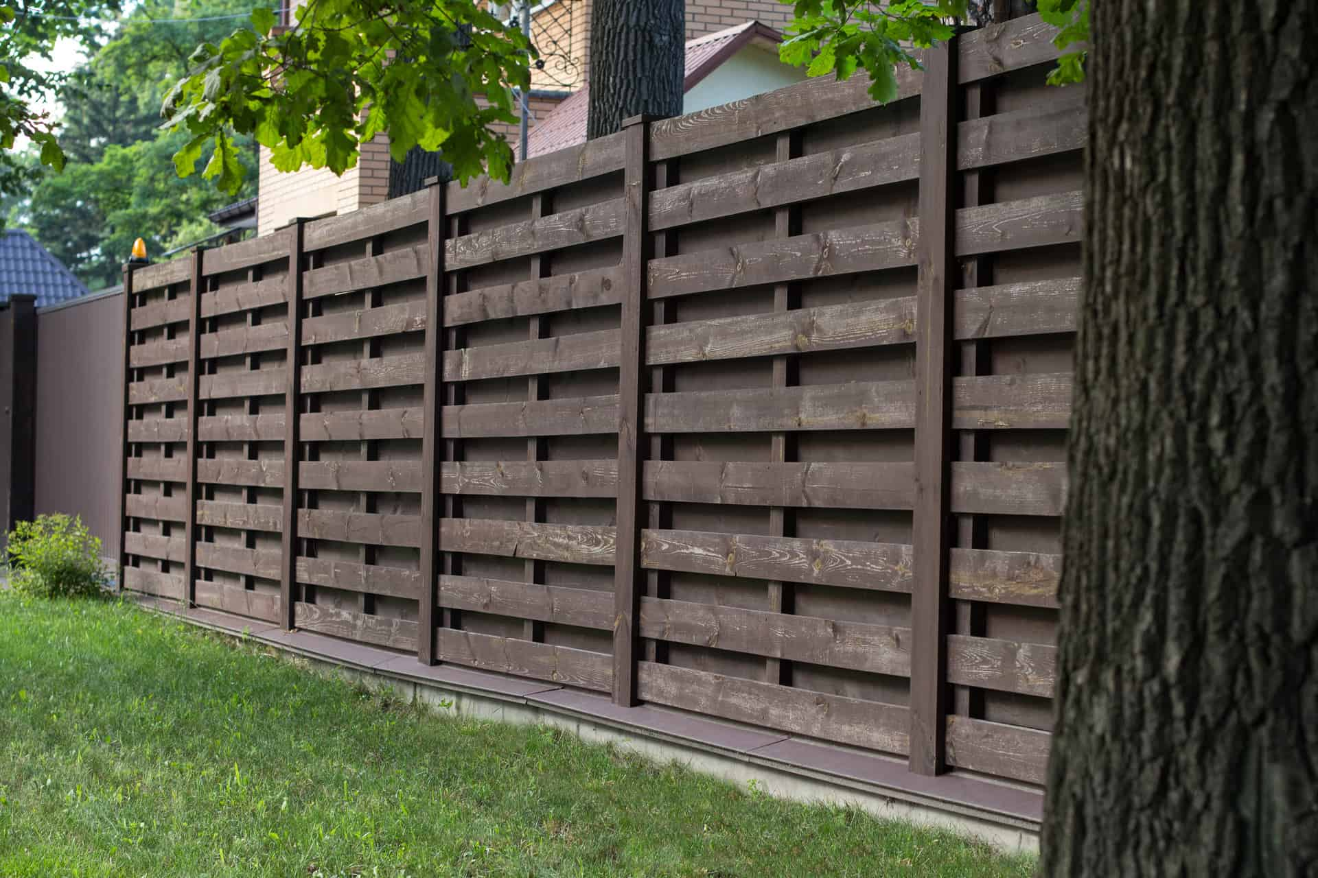 Wooden Privacy Fences Lucius Complete Home